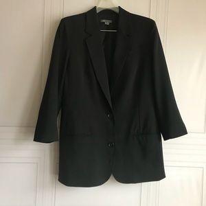 Women's Vince Oversized Long Black Blazer size 12